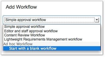 ad hoc workflows comala workflows old documentation comalatech
