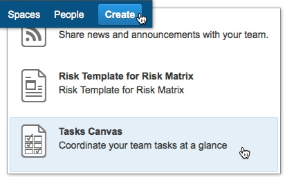 Tasks canvas canvas for confluence server latest global site via confluence blueprints create button malvernweather Images